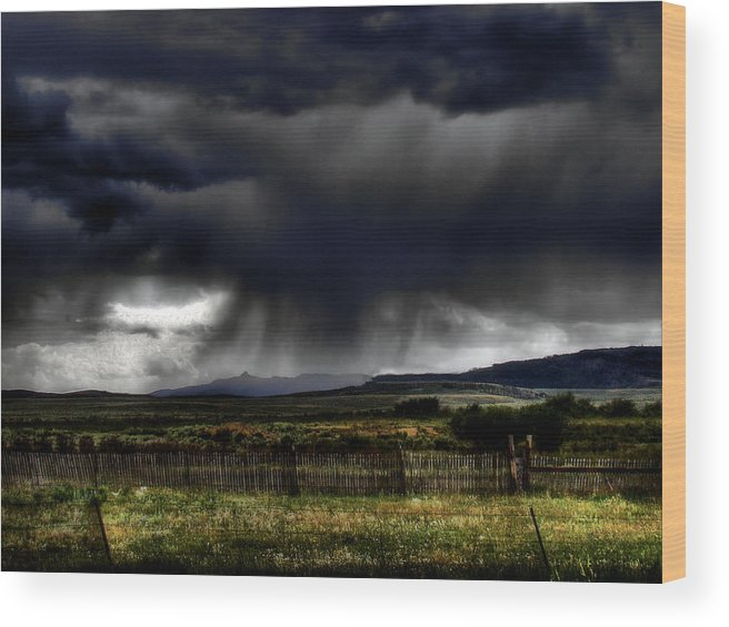 Landscape Wood Print featuring the photograph Apocalyptic by Tingy Wende
