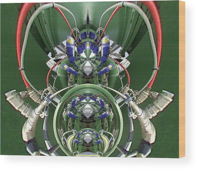 Symetry Wood Print featuring the digital art Arac by Stephane Delbecq
