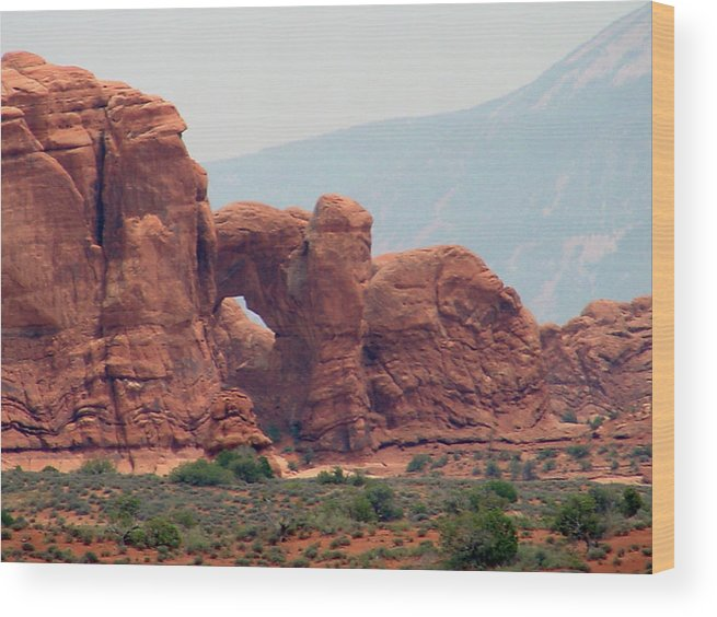 Arches National Park Wood Print featuring the photograph Arches Formation 22 by Dawn Amber Hood