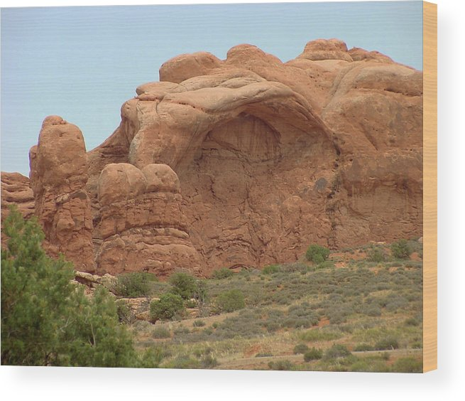 Arches National Park Wood Print featuring the photograph Arches Formation 30 by Dawn Amber Hood