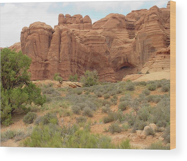 Arches National Park Wood Print featuring the photograph Arches Formation 31 by Dawn Amber Hood