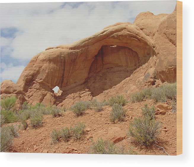 Arches National Park Wood Print featuring the photograph Arches Formation 40 by Dawn Amber Hood