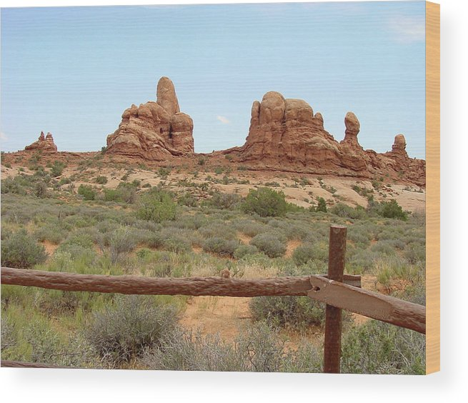 Arches National Park Wood Print featuring the photograph Arches National Park 23 by Dawn Amber Hood