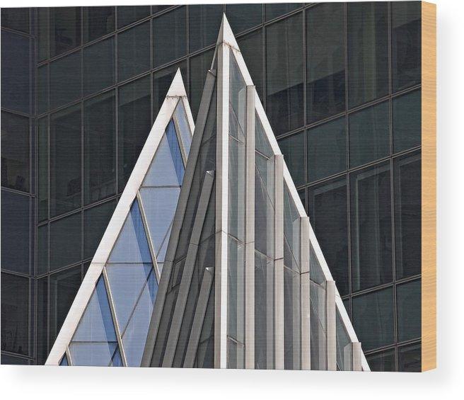 Wood Print featuring the photograph Architectural Detail Midtown Manhattan by Robert Ullmann
