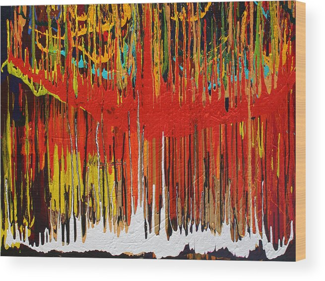 Fusionart Wood Print featuring the painting Ascension by Ralph White