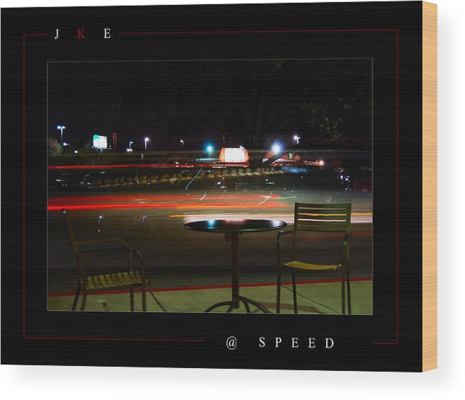 Starbucks Wood Print featuring the photograph At Speed by Jonathan Ellis Keys