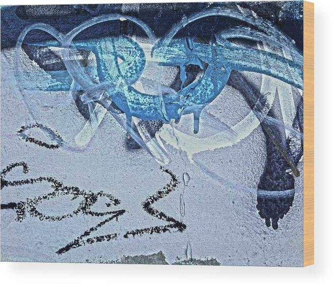 Graffiti Wood Print featuring the digital art At The Iditarod by Dan Reich