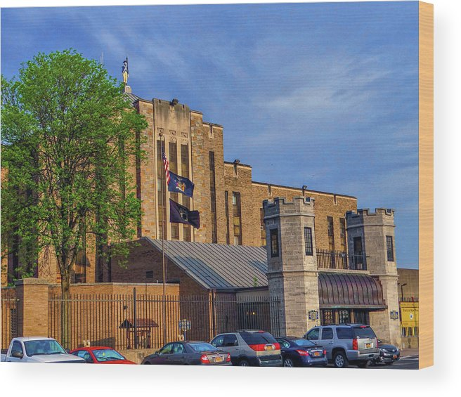 Auburn State Prison Wood Print featuring the photograph Auburn State Prison by Dennis Dugan