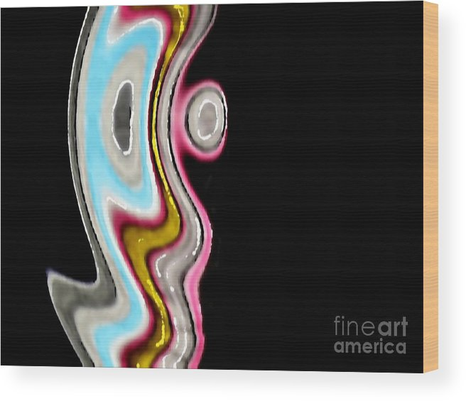 Abstract Wood Print featuring the digital art Aurora by Lucie