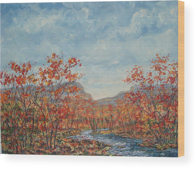 Paintings Wood Print featuring the painting Autumn View. by Leonard Holland