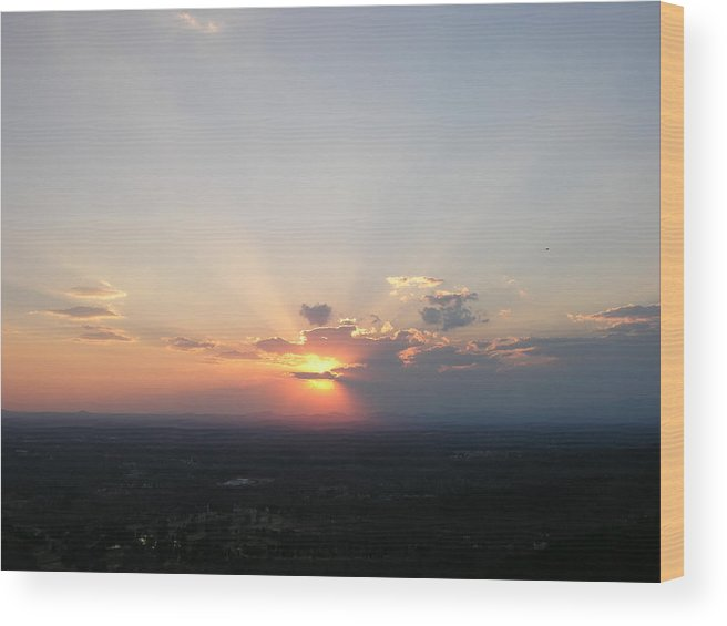 Sunset Wood Print featuring the photograph Baby Blue by John Geck
