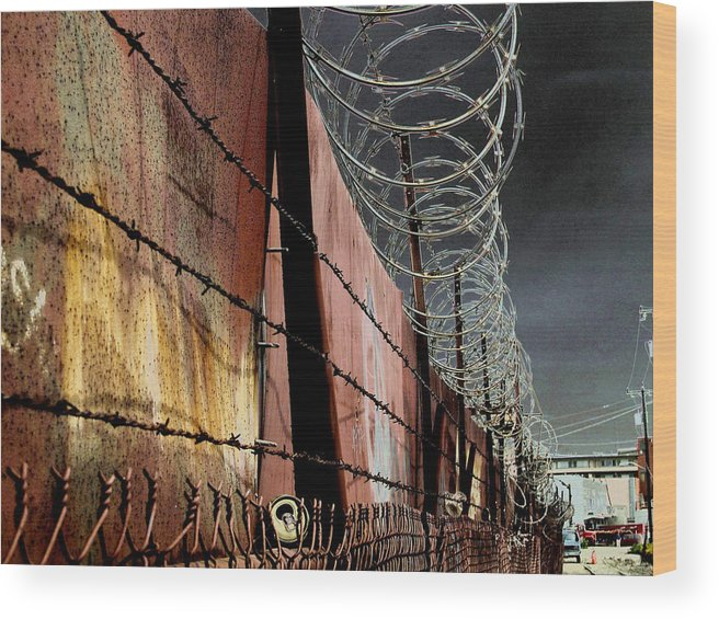 Wall Wood Print featuring the photograph Ballard In Seattle by Jeff Burgess