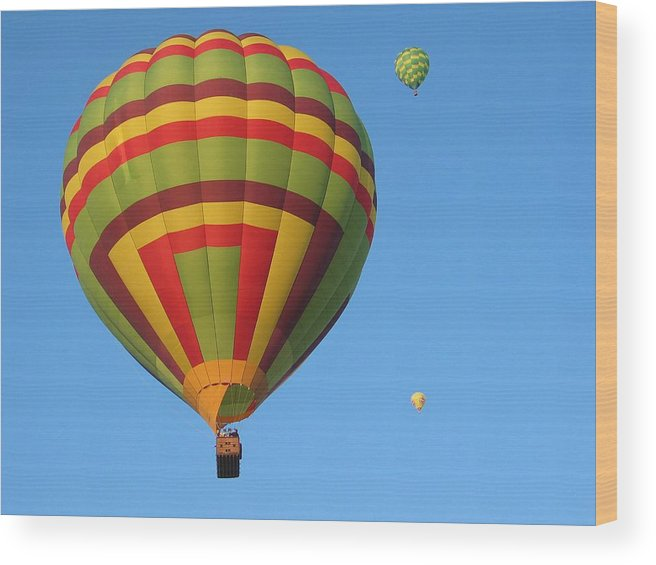 Hot Air Balloons Wood Print featuring the photograph Balloons New Mexico by Margaret Fortunato