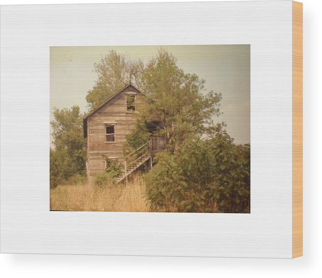 Country Wood Print featuring the photograph Barn Wood Homestead by Hal Newhouser