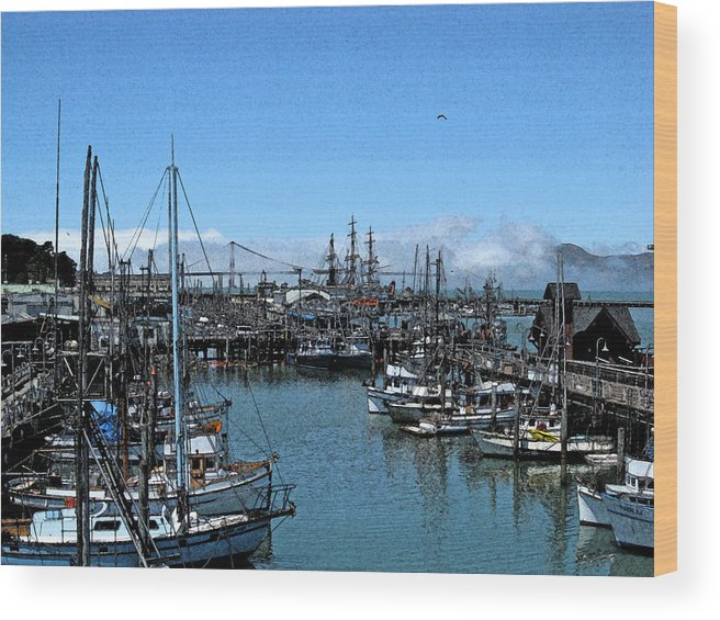Golden Gate Bridge Wood Print featuring the photograph Bay Fresco by Jerry Patchin