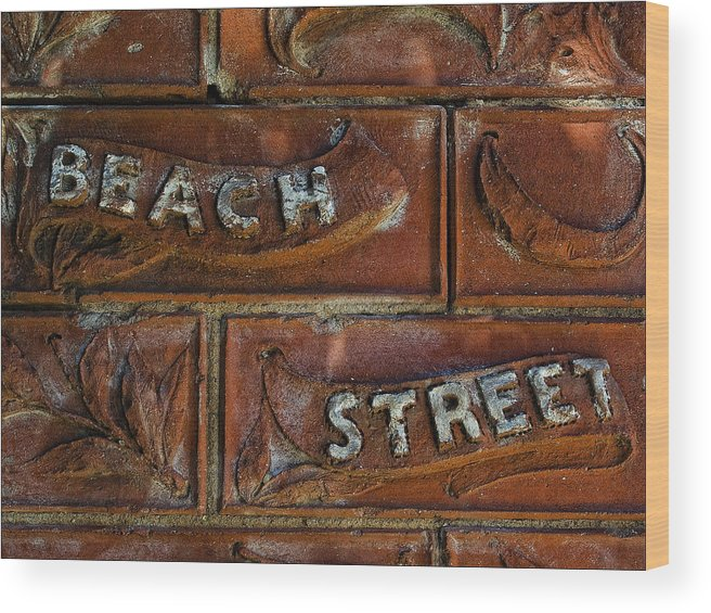 Wood Print featuring the photograph Beach Street Sign Nyc by Robert Ullmann