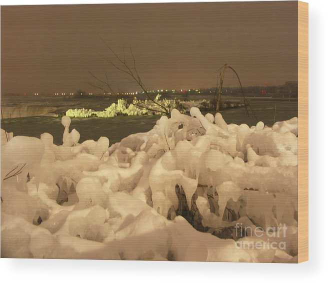 Ice Wood Print featuring the photograph Beauty In Nature by Deborah Selib-Haig DMacq