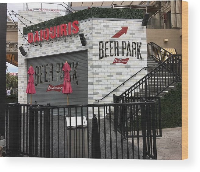 Landscape Wood Print featuring the photograph Beer Park by Dorothy DiGrigoli
