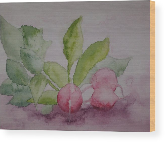 Still Life Wood Print featuring the painting Beets by Diana Prout