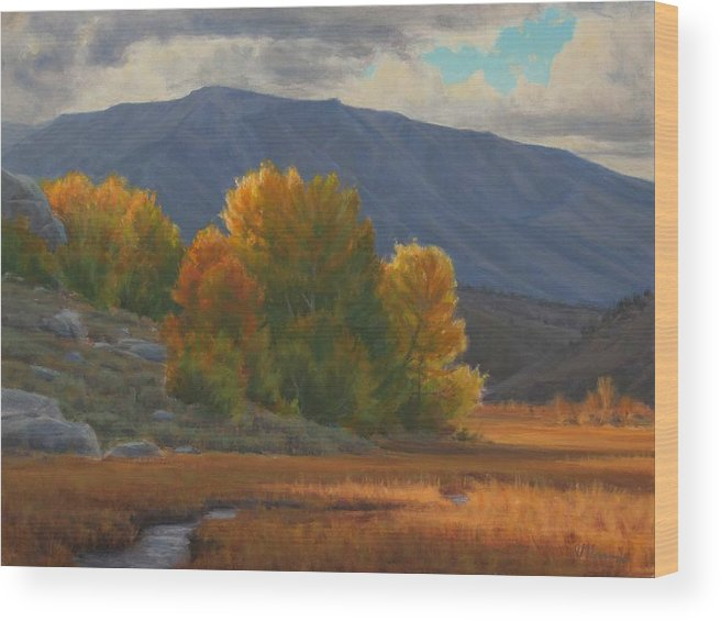 Auntumn Wood Print featuring the painting Before The Snow by Joe Mancuso