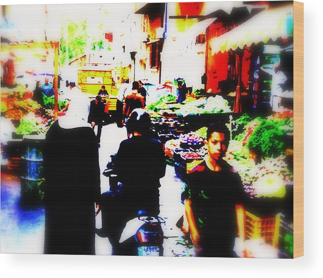 Lebanon Wood Print featuring the photograph Beirut Market Funk by Funkpix Photo Hunter