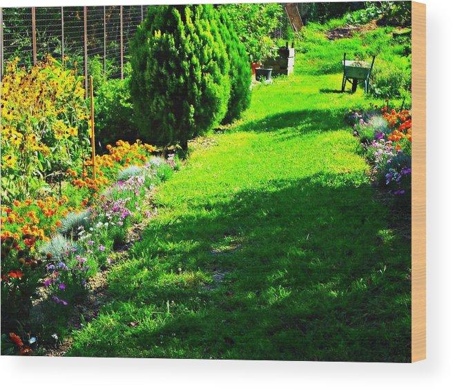 Garden Wood Print featuring the photograph Beutifull Garden by Filip Mazev
