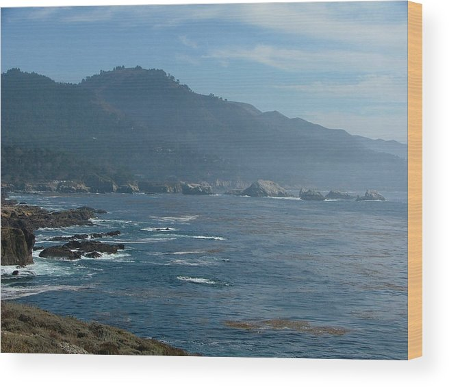 Seascape Wood Print featuring the photograph Big Sur by Donna Thomas