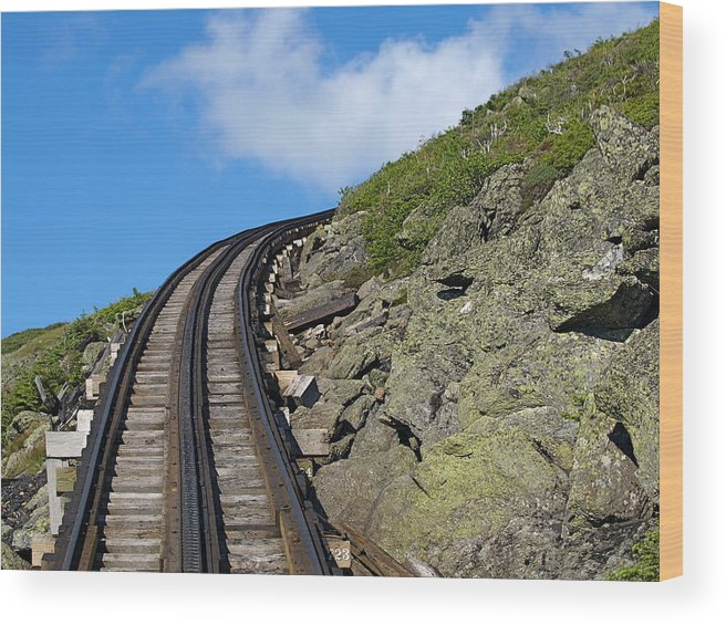Trains.tracks Wood Print featuring the photograph Blind Corner by Peter Gray