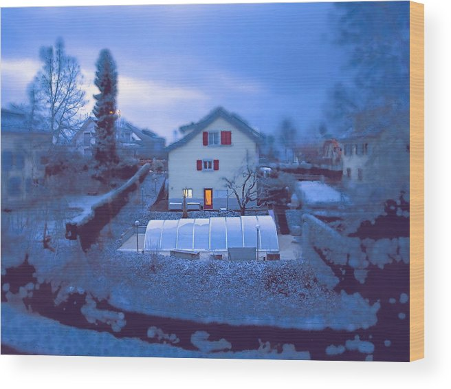 Landscape Wood Print featuring the photograph Blue Morn by Chuck Shafer