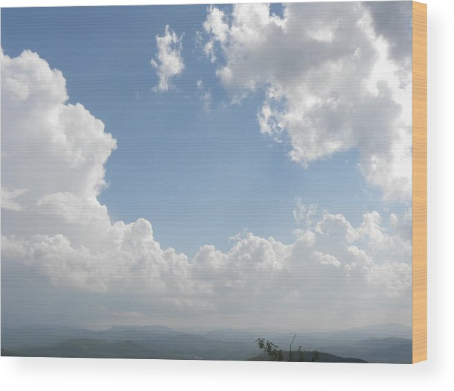 Sky Wood Print featuring the photograph Blue Mountain Sky by Janet Dickinson
