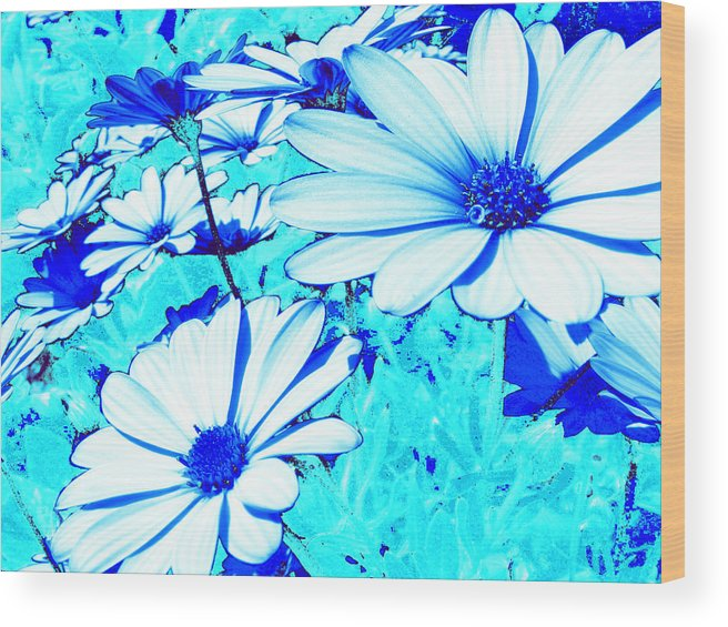 Blue Flowers Wood Print featuring the photograph Blue Season by Ingrid Dance