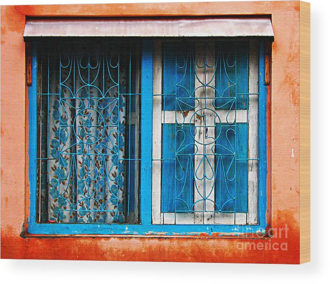 Window Wood Print featuring the photograph Blue Window by Derek Selander