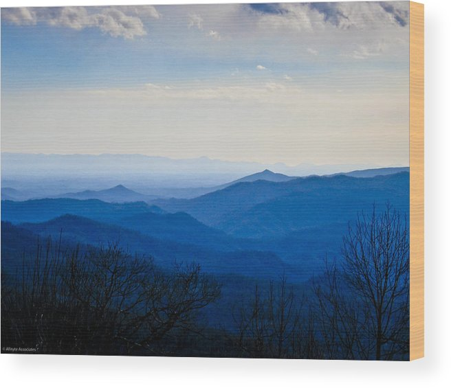 Landscape Wood Print featuring the photograph Blueridge by Ches Black