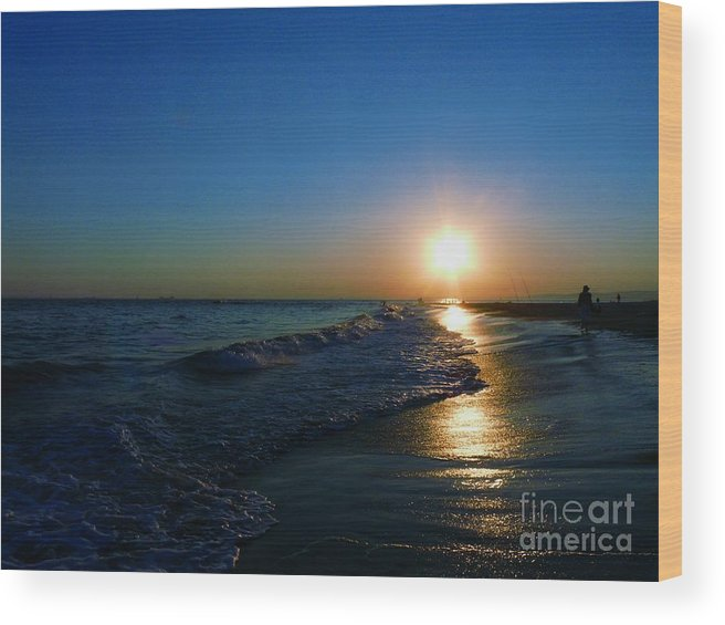 Landscape Wood Print featuring the photograph Blues In The Evening by Kendall Eutemey