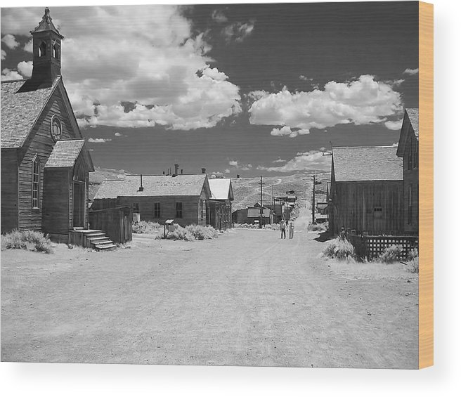 Ghost Town Wood Print featuring the photograph Bodie A Ghost Town Infrared by Christine Till