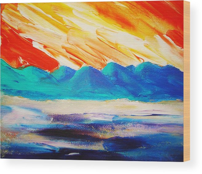 Bright Wood Print featuring the painting Bold Day by Melinda Etzold