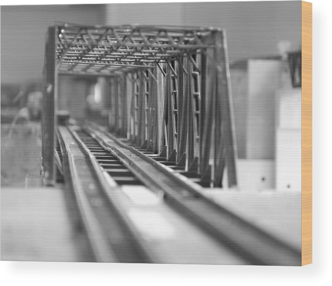 Models Wood Print featuring the photograph Bridge To Jerry Town by Margaret Fortunato