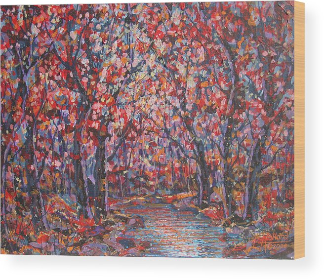 Forest Wood Print featuring the painting Brilliant Autumn. by Leonard Holland