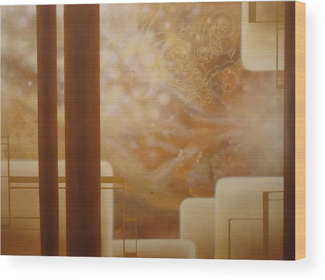 Brown Wood Print featuring the painting Brown Sugar Makes It Better by Monica James