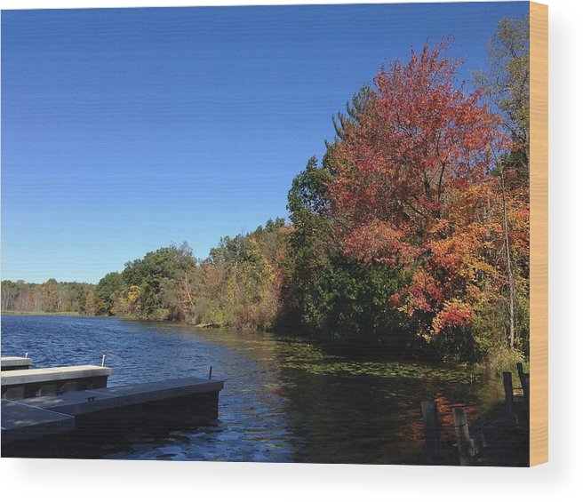 Pure Michigan Wood Print featuring the digital art Buhl Lake by 2141 Photography