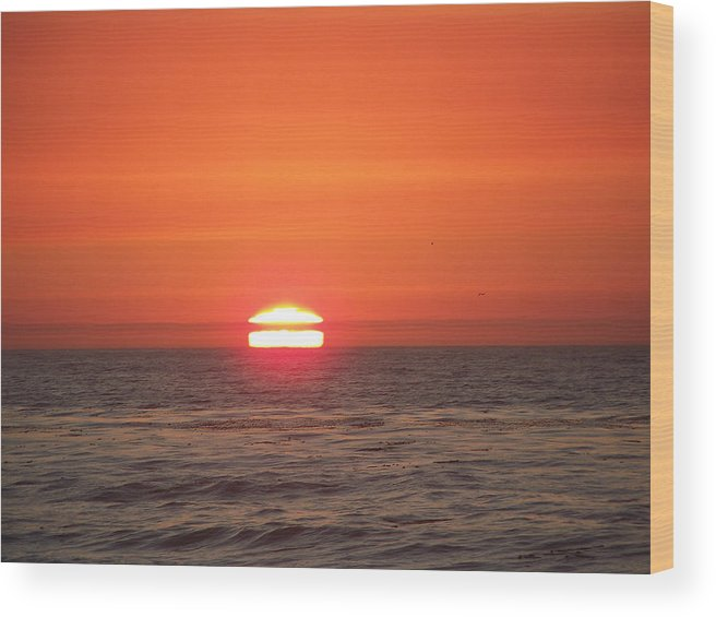 Sunsets Wood Print featuring the photograph Burning Breath by Maggie Cruser