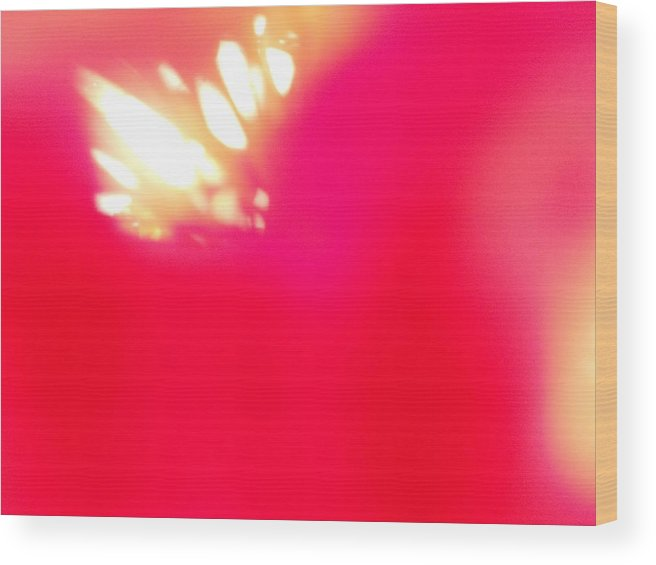 White Wood Print featuring the photograph Burst Of Light by Alexandra Masson