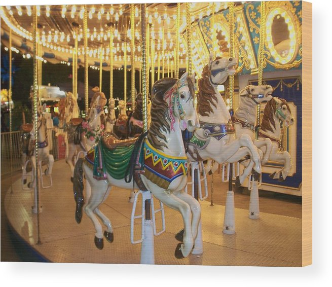 Carousel Horse Wood Print featuring the photograph Carousel Horse 4 by Anita Burgermeister