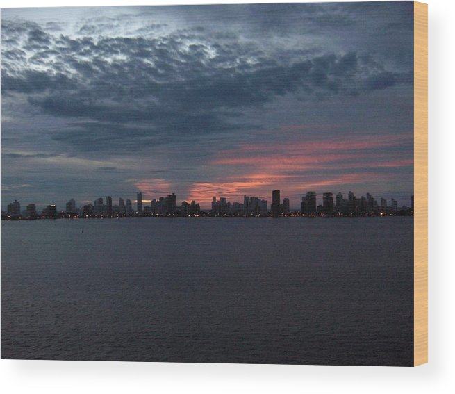 Cartagena Wood Print featuring the photograph Cartagena Colombia At Sunset by Janet Hall