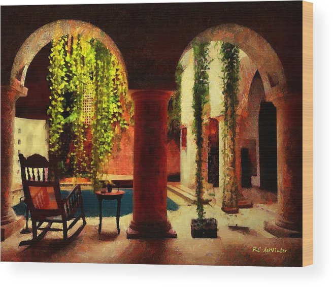 Morning Wood Print featuring the painting Cartagena Morning by RC DeWinter