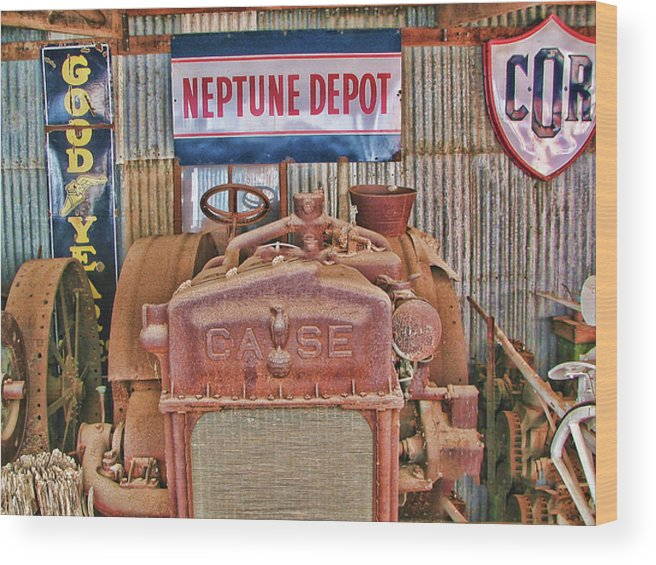 Case Tractor 1918-1929 Wood Print featuring the photograph Case Tractor 1918-1929 by Douglas Barnard