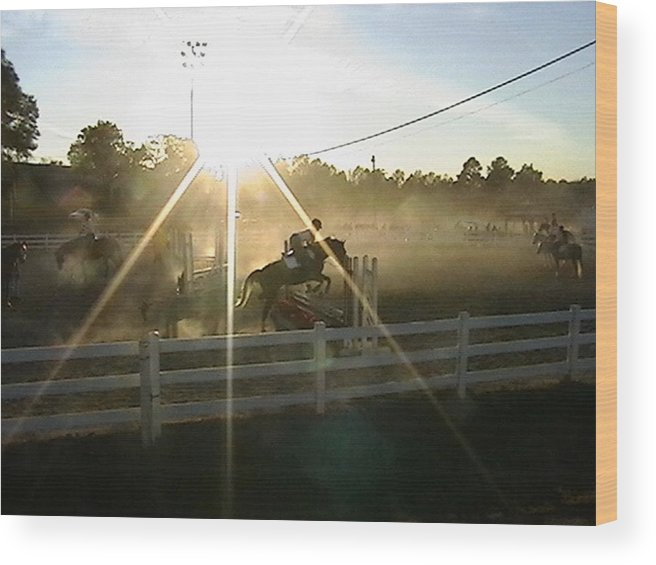 Horse Wood Print featuring the photograph Catching The Light by Donna Thomas