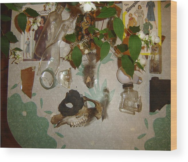 Still Life Wood Print featuring the photograph Caught In An Eddy by Dean Corbin