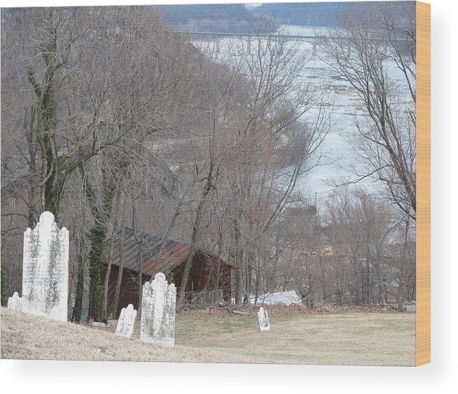 History Wood Print featuring the photograph Cemetery Color by Staci-Jill Burnley