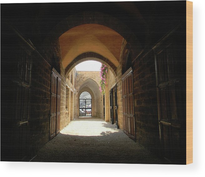 Marwan Wood Print featuring the photograph Chaos Beyond The Gate by Marwan George Khoury